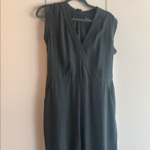 Madewell Green Silk Jumpsuit. Worn once.